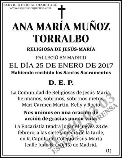 Ana María Muñoz Torralbo